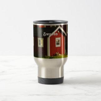 Red Houses in Sweden Travel Mug