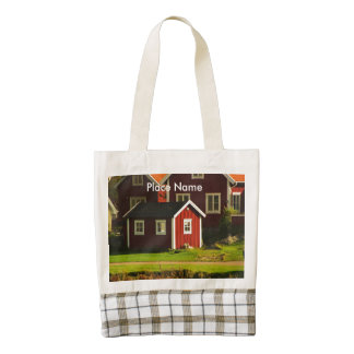 Red Houses in Sweden Zazzle HEART Tote Bag