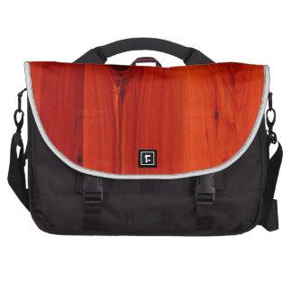 Red hue Cherry Wood grain Commuter Bag