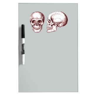 Red Human Skulls side face Dry-Erase Whiteboard