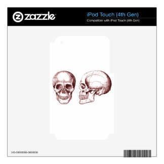 Red Human Skulls side face iPod Touch 4G Skin