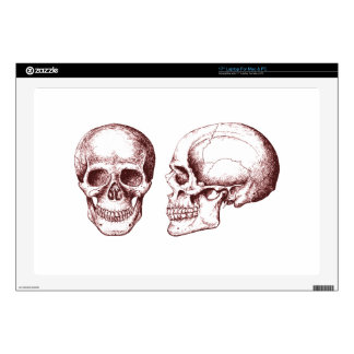Red Human Skulls side face Laptop Skins