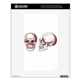 Red Human Skulls side face NOOK Color Skin