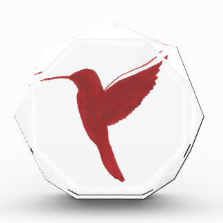Red Hummingbird Acrylic Award