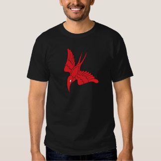 Red Hummingbird Men's Basic Dark T-Shirt
