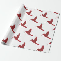 Red Hummingbird Wrapping Paper