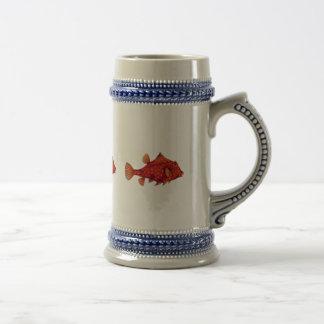 Red Humpback Turretfish Beer Stein