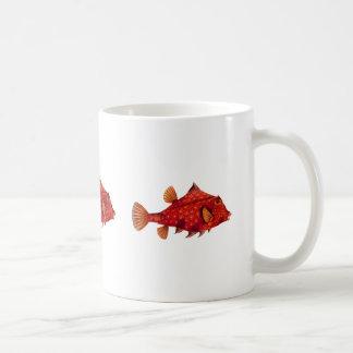 Red Humpback Turretfish Coffee Mugs