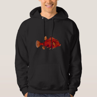 Red Humpback Turretfish Hooded Pullover