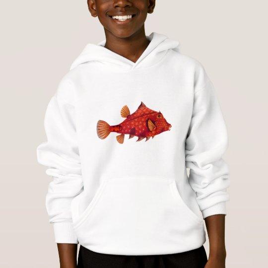 Red Humpback Turretfish Hoodie