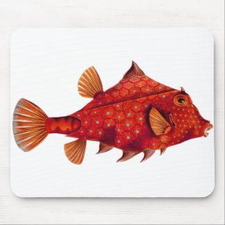 Red Humpback Turretfish Mouse Pads