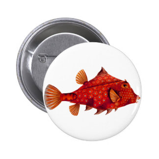 Red Humpback Turretfish Pinback Button