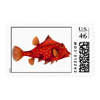 Red Humpback Turretfish Postage Stamps