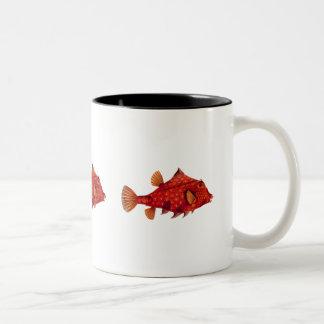 Red Humpback Turretfish Two-Tone Coffee Mug