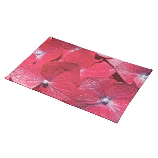 Red hydrangea cloth placemat