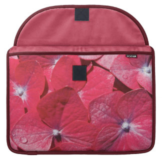 Red hydrangea sleeve for MacBooks
