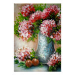Red Hydrangeas Art Prints Print