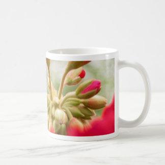 Red hydrangeas buds classic white coffee mug