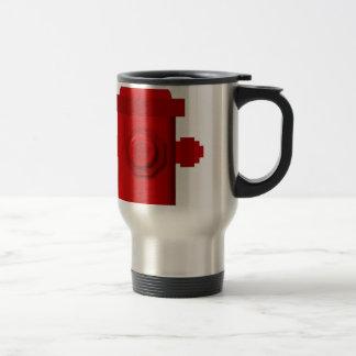 red hydrant items travel mug