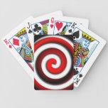 Red Hyonotic Spiral Poker Deck