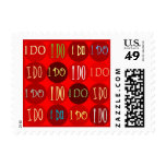 RED I DO POSTAGE STAMPS - Customized - Customized