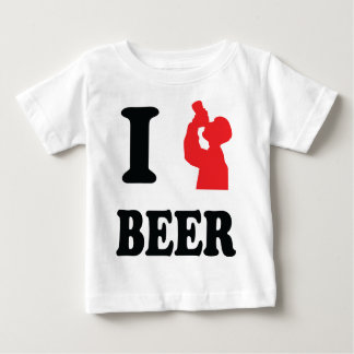 red I drink beer icon Baby T-Shirt