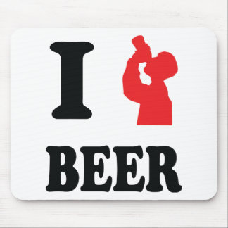 red I drink beer icon Mouse Pad