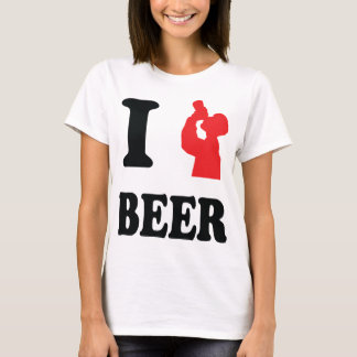 red I drink beer icon T-Shirt