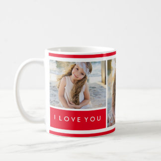 Red I love You Photo Collage | Mug