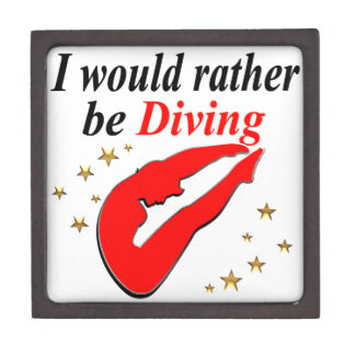 RED I WOULD RATHER BE DIVING INSPIRATIONAL DESIGN GIFT BOX