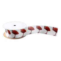 Red Ibis give this to the bird lover in your life Satin Ribbon