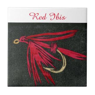 """Red Ibis"" wet fly tile. Ceramic Tile"