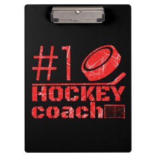 Red ice - Number 1 hockey coach Clipboard