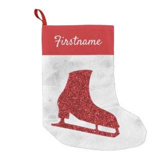 Red Ice skate Christmas Stockings