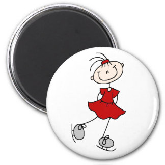 Red Ice Skater Girl Magnet
