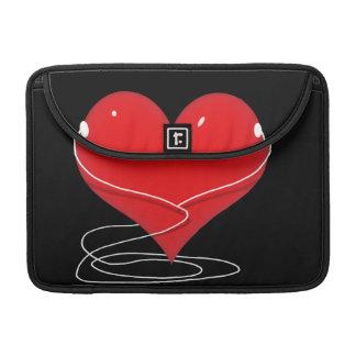 Red iHeart Sleeve For MacBooks
