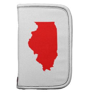 Red Illinois Folio Planner