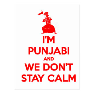 (RED) I'm Punjabi and We Don't Stay Calm Postcard