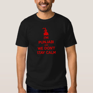 (RED) I'm Punjabi and We Don't Stay Calm Shirt