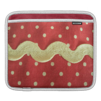 red image the white dots iPad sleeve