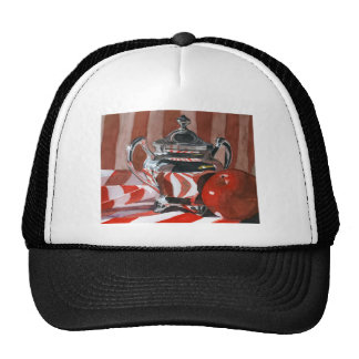 Red in Silver Reflections Trucker Hat