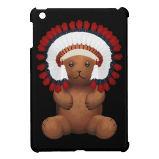 Red Indian chief Teddy Bear iPad Mini Covers