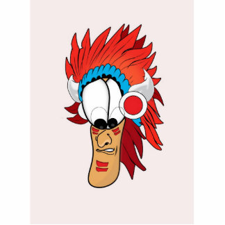 Red Indian Cutout