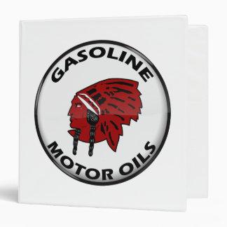 Red Indian Gasoline vintage sign. Crystal version Binder