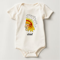 Red Indian Head Baby Bodysuit