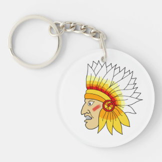 Red Indian Head Keychain