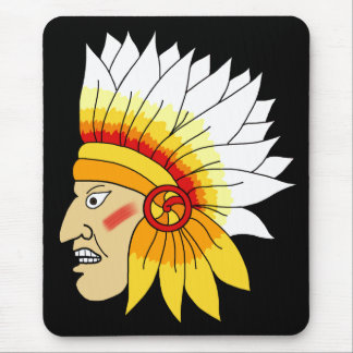 Red Indian Head Mousepad