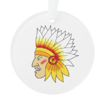 Red Indian Head Ornament