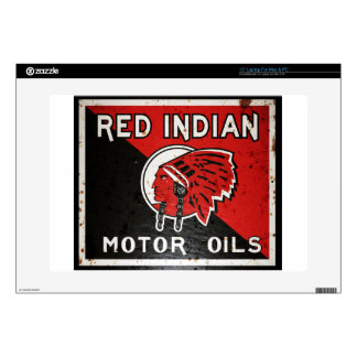Red Indian Motor Oil sign rusted vers. Decal For Laptop