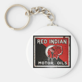 Red Indian Motor Oil sign rusted vers. Keychain